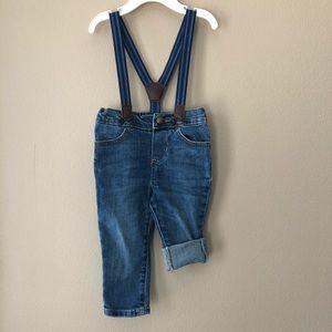 Oshkosh baby boy suspender jeans